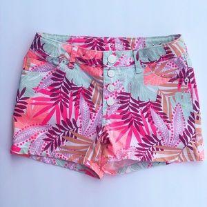 Cat & Jack tropical floral bright shorts L (10/12)
